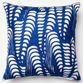 Embroidered Echo Wave Down Feather or Polyester Filled 18-inch Throw Pillow or Pillow Cover