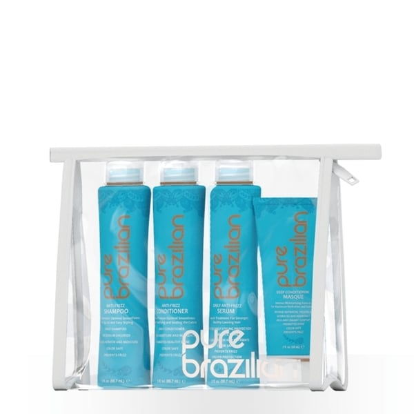 Pure Brazilian Anti-frizz Shampoo/ Conditioner/ Masque and Serum Travel Set