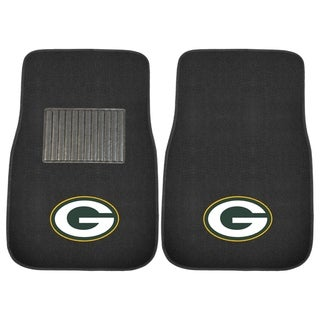 """Fanmats NFL Green Bay Packers 18""""-27"""" 2-piece Embroidered Car Mat Set"""