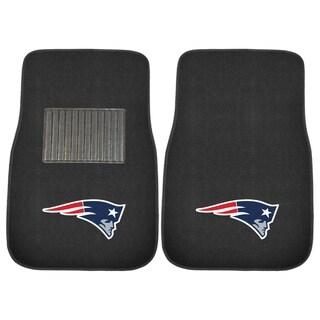 "Fanmats NFL New England Patriots 18""-27"" 2-piece Embroidered Car Mat Set"