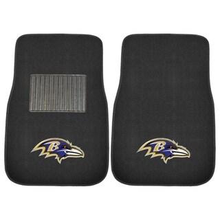 "Fanmats NFL Baltimore Ravens 18""-27"" 2-piece Embroidered Car Mat Set"