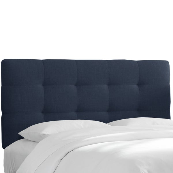Skyline Furniture Tufted Headboard In Linen Navy Free Shipping Today