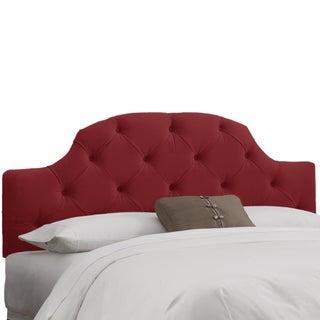 Skyline Furniture Tufted Headboard in Velvet Berry