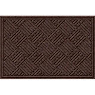 Textured Crosshatch Walnut Door Mat
