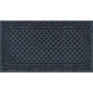 Textured Iron Lattice Smoke Door Mat