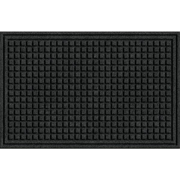 Textured Squares Onyx Door Mat