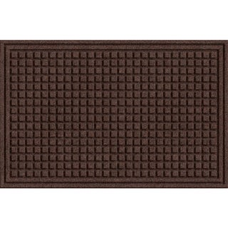 Textured Squares Walnut Door Mat