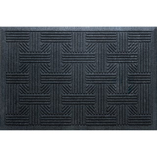 Textured Iron Lattice Walnut Door Mat 17734641