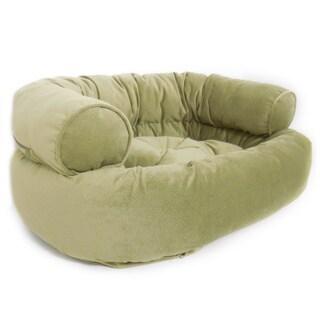 Orthopedic Dubbo Micro Velvet Bolster Sofa Pet Bed