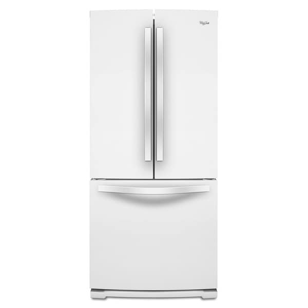 Whirlpool 19 6 cubic feet french door refrigerator for 19 cubic foot french door refrigerator