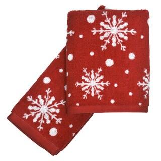 Peri Home Snowflakes 2-piece Fingertip Towel Set