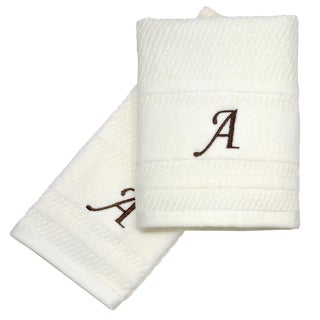 Peri Home Embroidered Initial Monogram 2-piece Fingertip Towel Set