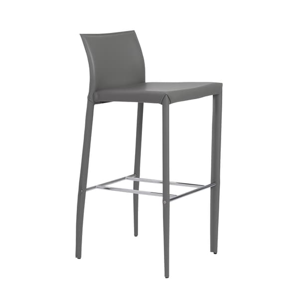 Shen-b Grey/ Chrome Bar Stools (Set of 2)
