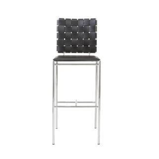 Carina-b Black/ Chrome Bar Stools (Set of 2)