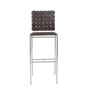 Carina-b Brown/ Chrome Bar Stools (Set of 2)
