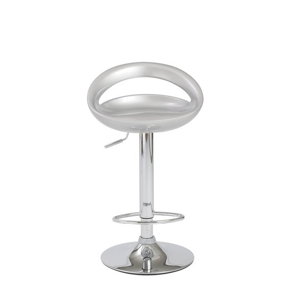 Agnes Silver/ Chrome Bar/ Counter Stool