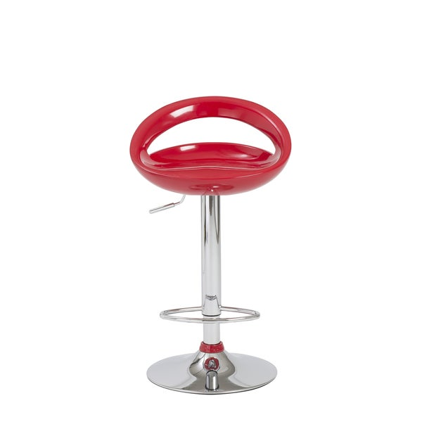 Agnes Red/ Chrome Bar/ Counter Stool