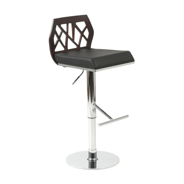 Sophia Wenge/ Black/ Chrome Bar/ Counter Stool