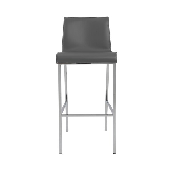 Cam-b Grey/ Chrome Bar Stools (Set of 2)