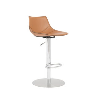 Rudy Cognac/ Stainless Steel Bar/ Counter Stool