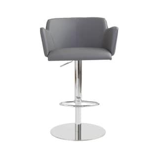 Sunny Grey Leatherette/ Chrome Bar/ Counter Chair