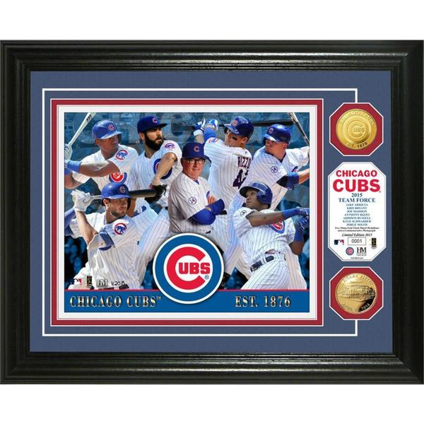 "Chicago Cubs ""2015 Team Force"" Gold Coin Photo Mint"