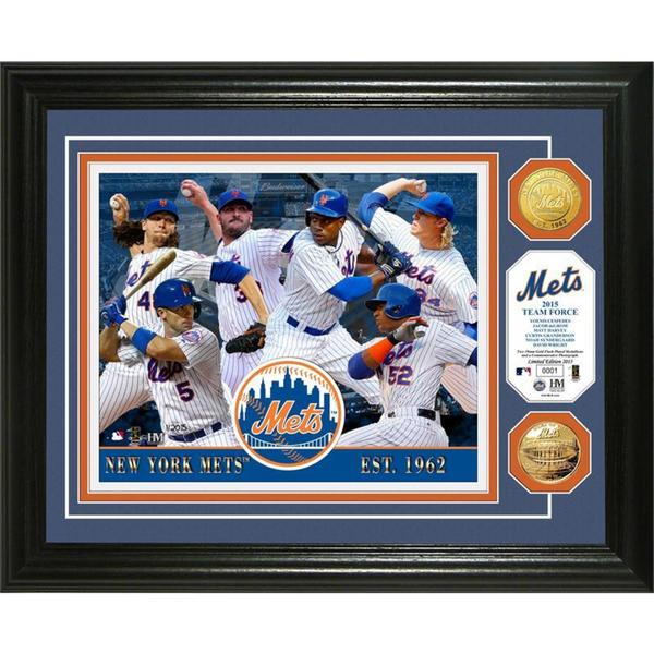 "New York Mets ""2015 Team Force"" Gold Coin Photo Mint"