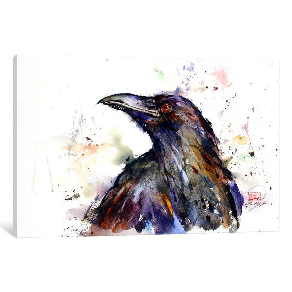 iCanvas Crow by Dean Crouser Canvas Print
