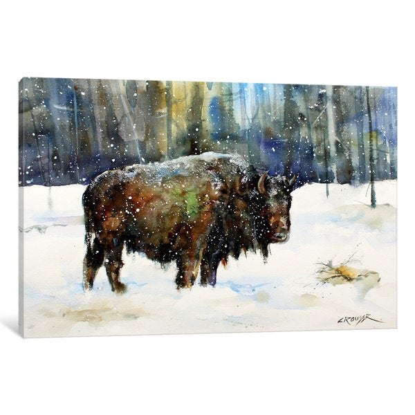 iCanvas Bison by Dean Crouser Canvas Print