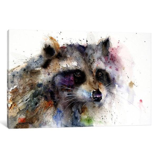 iCanvas Raccoon by Dean Crouser Canvas Print