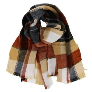 'Autumn' Plaid Blanket Scarf