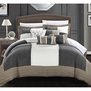 Chic Home Luciano Soft Microsuede Patchwork 7-piece Comforter Set