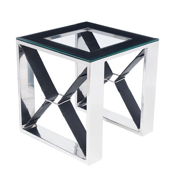 Wellington Black Side Table- Square