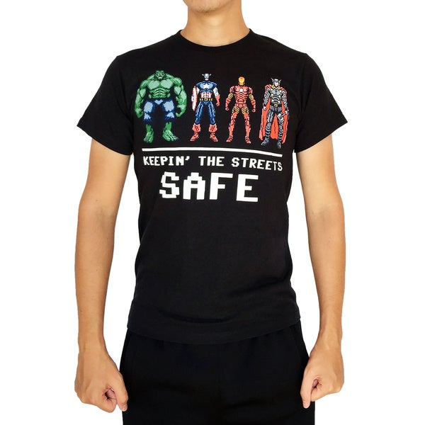 Marvel Men's Keeping the Streets Safe T-Shirt