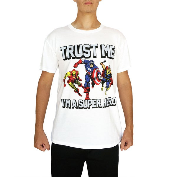 Marvel Men's Trust Me I'm a Superhero T-Shirt