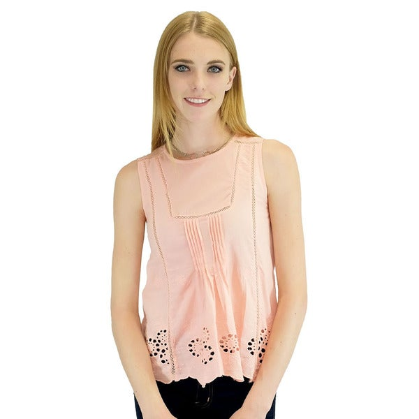 Relished Women's 'Beatrice' Pink Tank