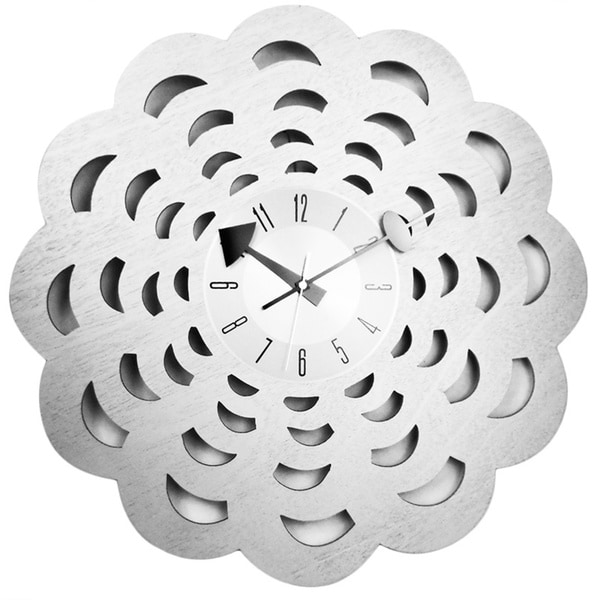 Mid Century Modern Vintage Clock in 20 inch Solid Wood