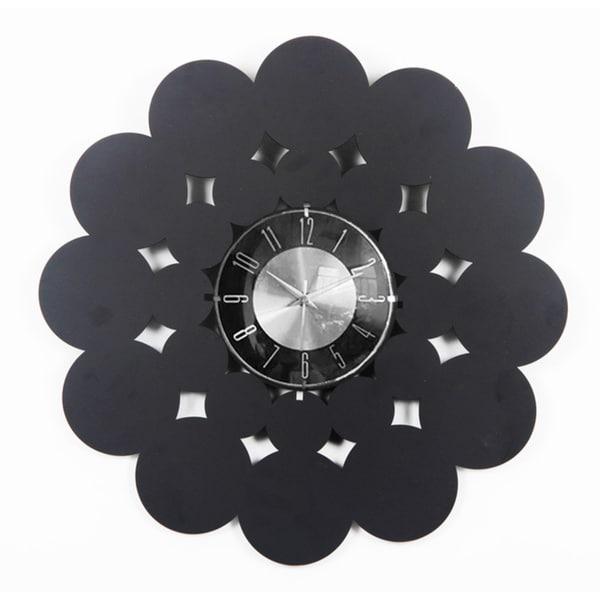 Mid Century Modern Handmade Laser Cut 20 inch Wood Clock