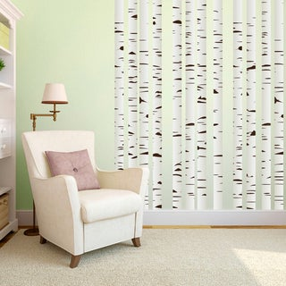 Printed Set of Birch Trees Wall Decals