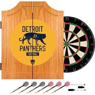 VAF Detroit Panthers Wood Dart Cabinet Set