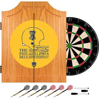 VAF Philadelphia Bell Wood Dart Cabinet Set