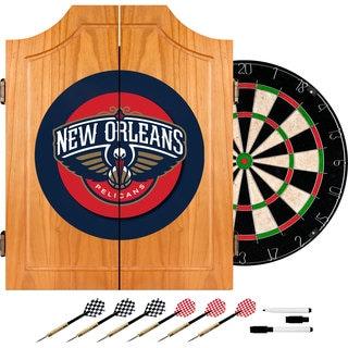 New Orleans Pelicans NBA Wood Dart Cabinet Set