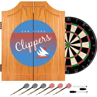 San Diego Clippers Hardwood Classics NBA Wood Dart Cabinet