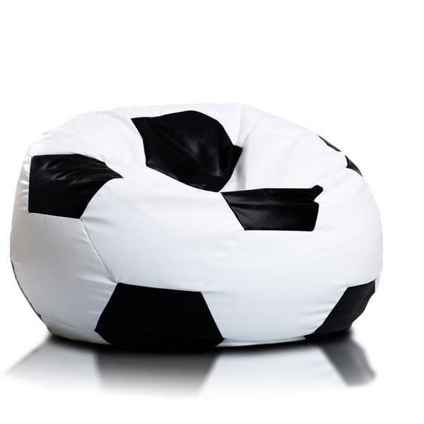 Large Multi-color Soccer Ball Bean Bag Chair - 17735357 - Overstock ...