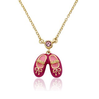 LMTS Faye 14k Goldplated Ballerina Shoes Charm Necklace