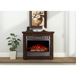 Argo Furniture Sparta Electric Fireplace with Remote