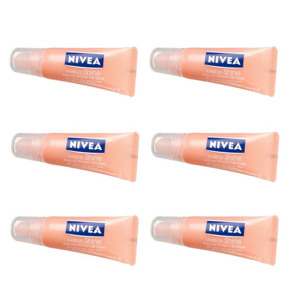 Nivea Natural Glossy Lip Care 0.35-ounces Kiss of Shine (Pack of 6)