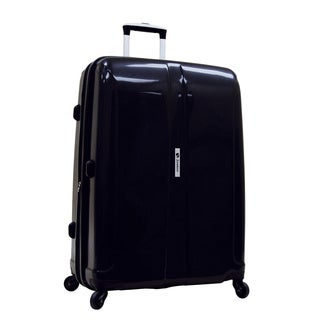 Samboro Shuttle Black 27-inch Expandable Hardside Spinner Upright Suitcase