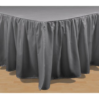 Brielle Stream Solid Color Bed Skirt