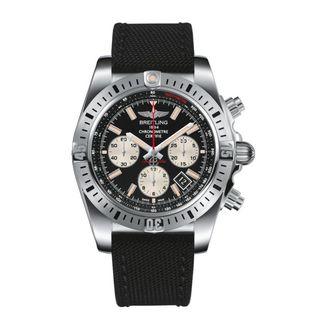 Breitling Men's AB01154G-BD13 'Chronomat 44 Airborne' Chronograph Automatic Black Canvas Watch